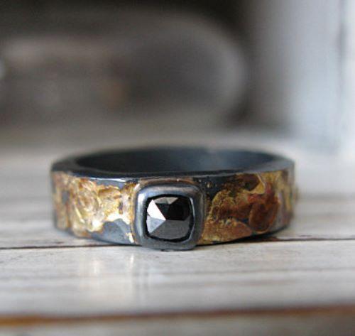 Black Gold Engagement Rings Uk