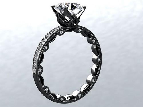 Black Gold Engagement Rings Women