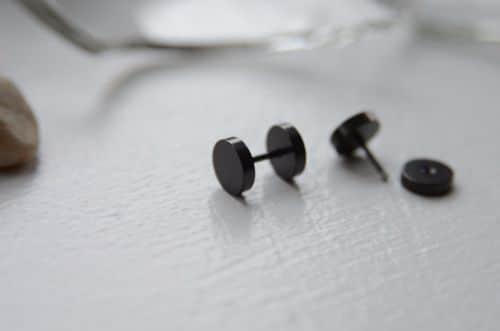 Black Mens Earrings