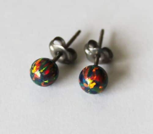 Black Opal Earings