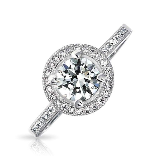 Bling Jewelry Round Solitaire Cheap Tiffany Engagement Rings