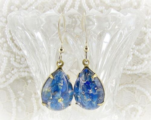 Blue Opal Earings