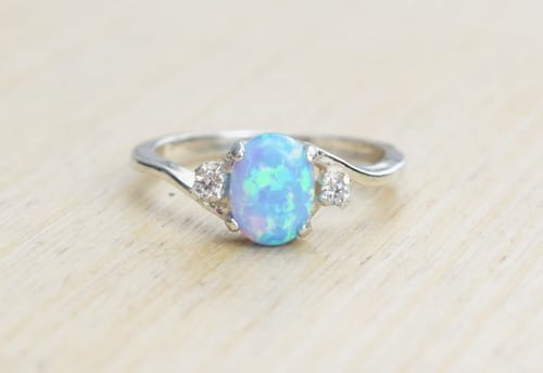 filled princess white free jewelry cubic gold set opal engagement ring cut zirconia product rings watches