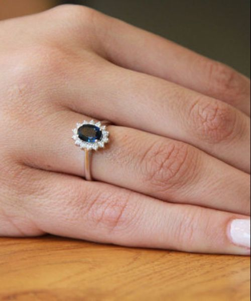 Blue Sapphire Engagement Rings For Women