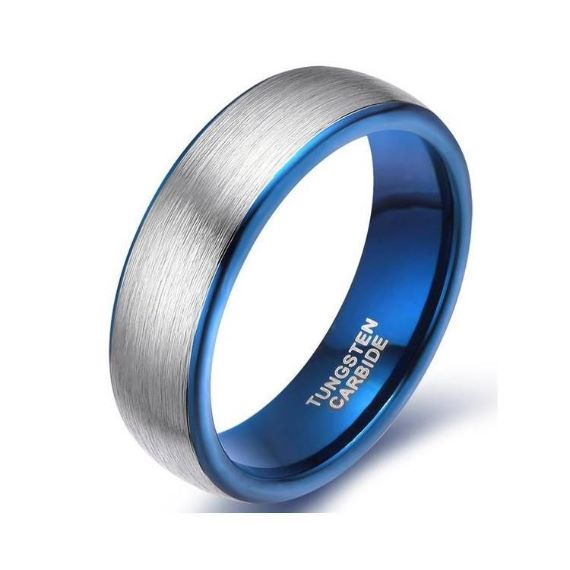 Blue Unique Mens Wedding Bands