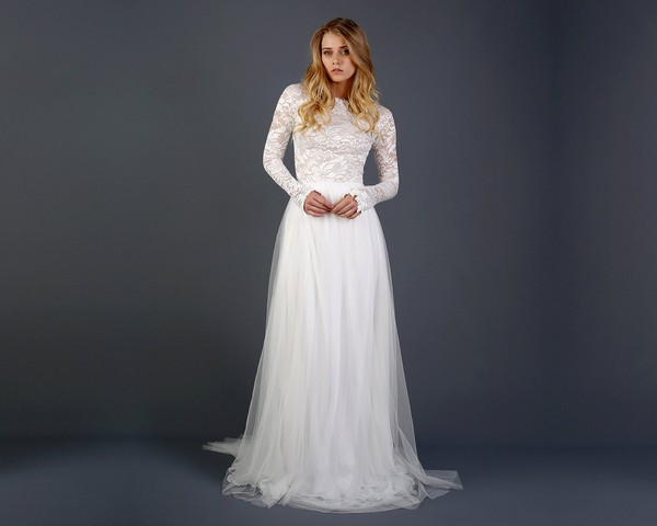 Beautiful Long Sleeve Lace Wedding Dress Boho Dresses Online