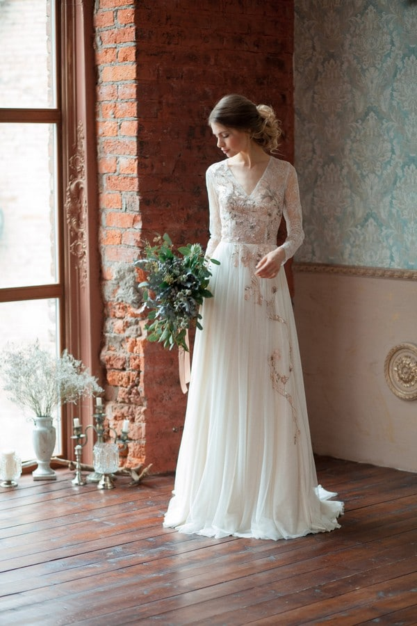 Long Sleeve Wedding Dress Boho Dresses