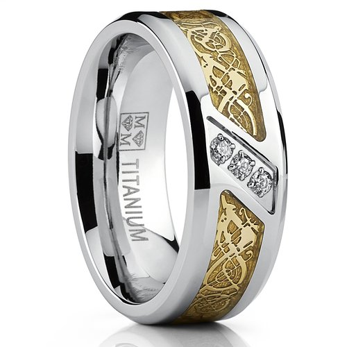 Bonndorf Men'S Titanium Wedding Ring Engagement Band
