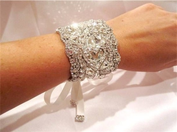 Bridal Cuff Bracelet Antique Silver Jewellery