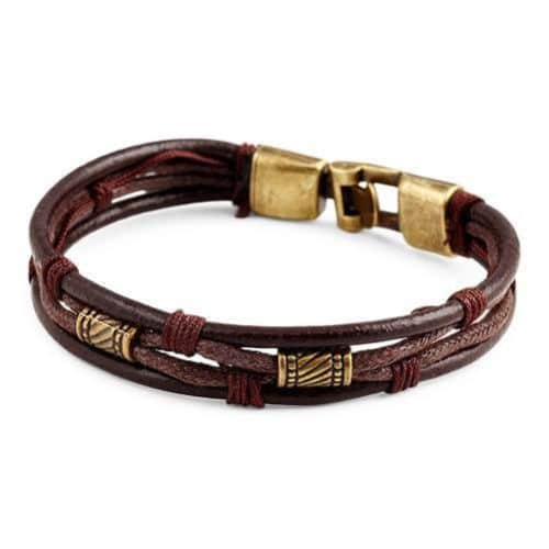 Brown Mens Leather Bracelets