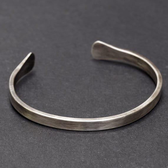 Brushed Silver Bracelets For Men