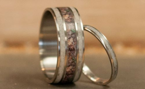 camo wedding ring sets for him and her - Affordable Wedding Ring Sets