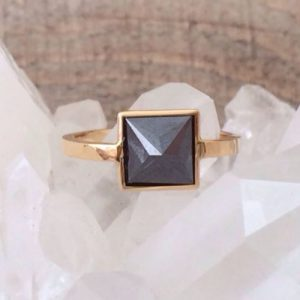Carbonado Black Diamond Ring