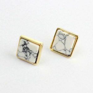 Ceramic Mens Stud Earrings