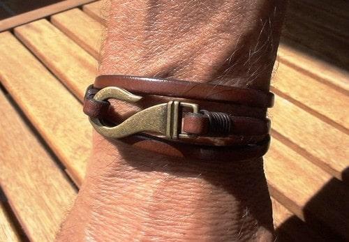 Cheap Mens Leather Bracelets