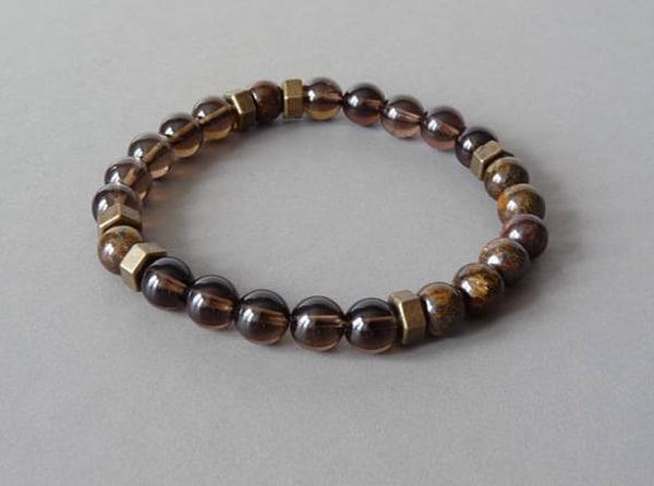 Clear Beaded Bracelet