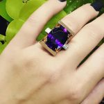 Cocktail Amethyst Ring