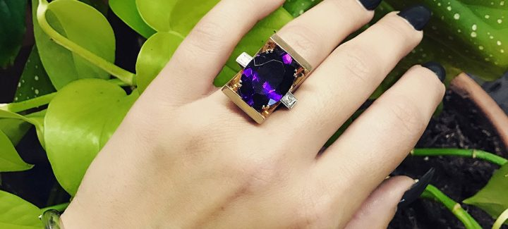 23 Stunningly Unique Amethyst Rings