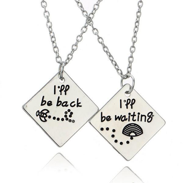 Couple Necklace Set Silver