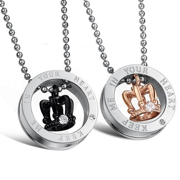 Couple Necklaces Dog Tag