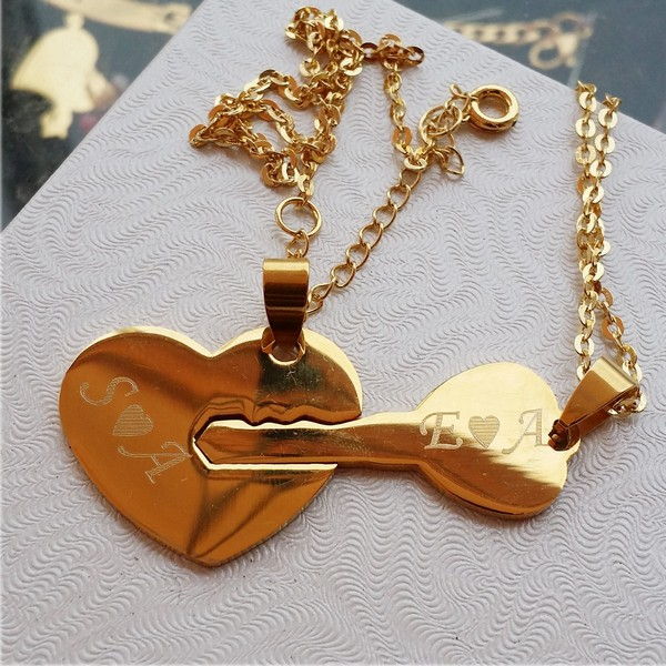 Couples Dog Tag Necklaces