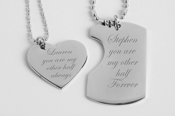 Couples Necklaces Gold