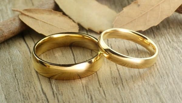Couples Rings Set Gold