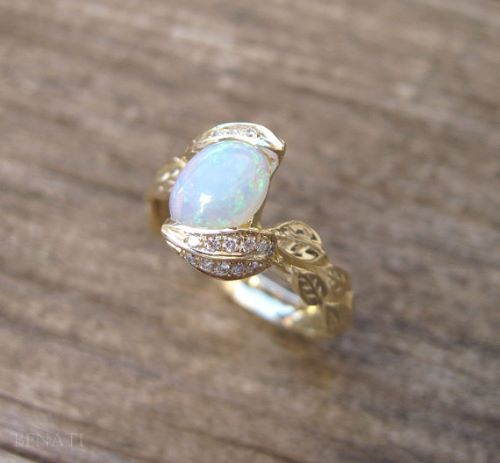 Crystal Opal Engagement Rings