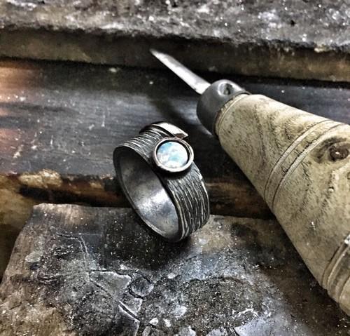 Custom Opal Engagement Rings