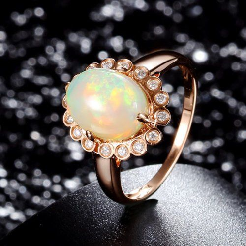 Custom Opal Engagement Rings