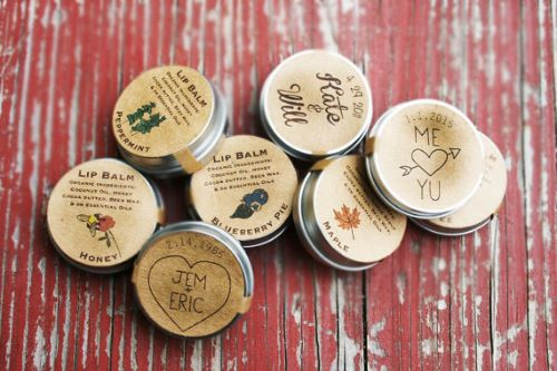 Custom Organic Lip Balm Wedding Guest Favors