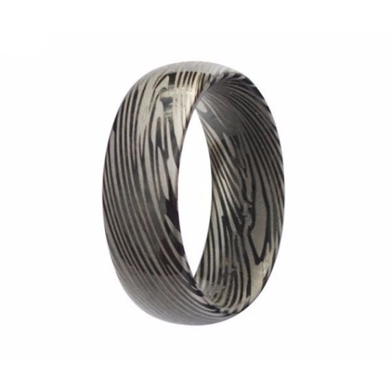 Damascus Steel Unique Mens Wedding Bands