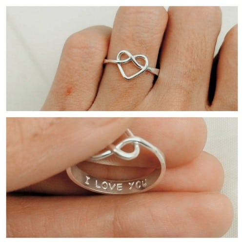 Double Rolling Promise Ring For Him