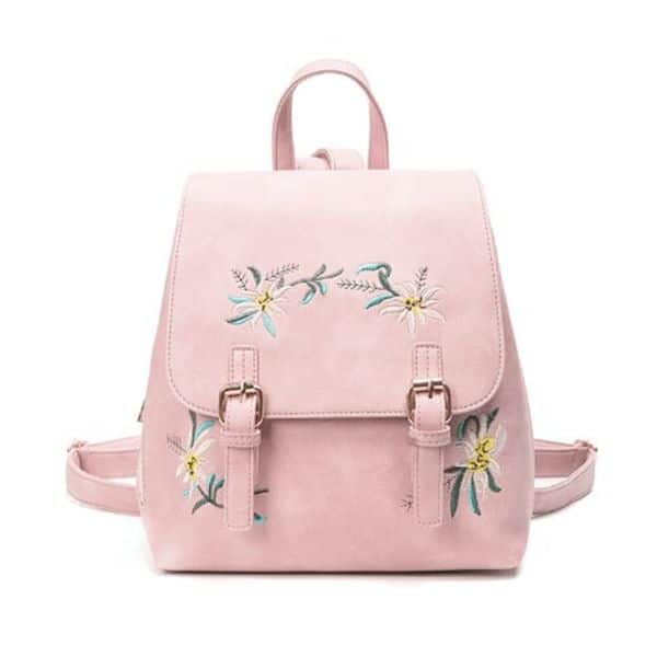 Embroidered Mini Backpack