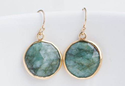 Emerald Earrings Etsy