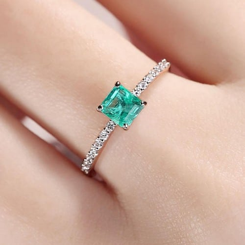 Emerald Engagement Rings For Women