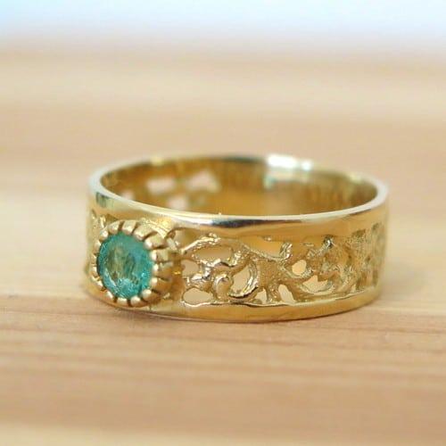 Emerald Rings Etsy