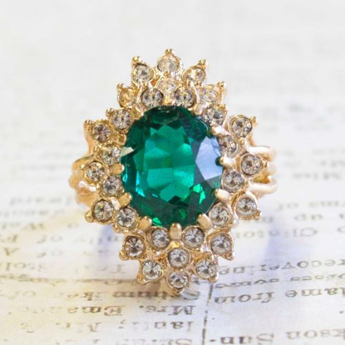 Emerald Rings In Gold