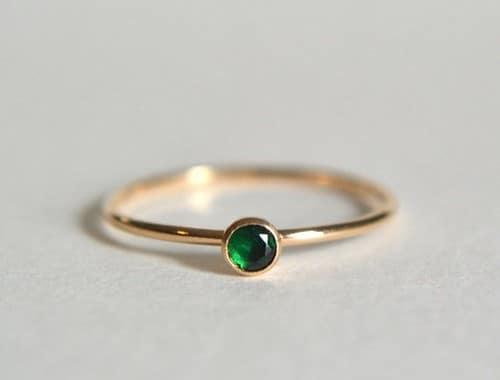 Emerald Rings Ladies