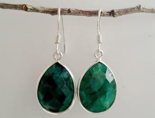 Emerald Teardrop Earrings