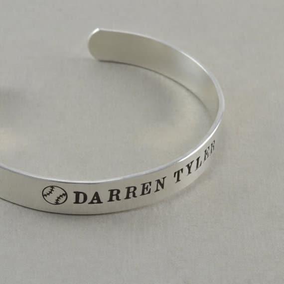 Engraved Silver Bracelets For Men