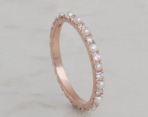 Eternity Pearl Ring