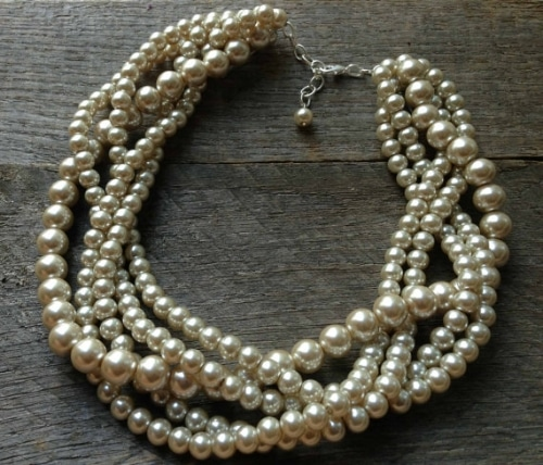 Etsy Coin Pearl Necklace