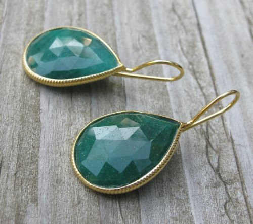 Fake Emerald Earrings