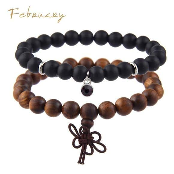 February Birthstones Bracelet Set