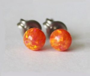 Fire Opal Earings