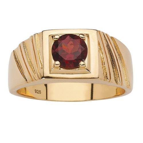 Garnet Rings Sterling Silver