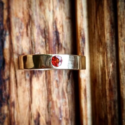 Garnet Rings White Gold