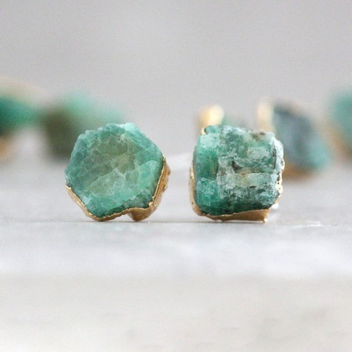 Genuine Emerald Earrings
