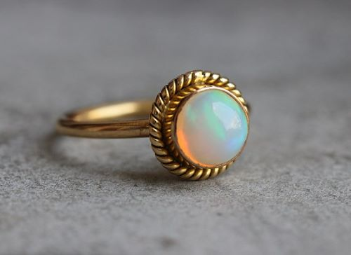Genuine Opal Engagement Rings